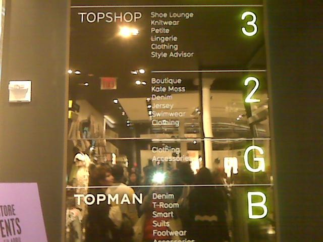 Topshop NYC store