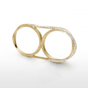 Double Helix Ring (14k Brushed Yellow Gold & Diamonds)_2