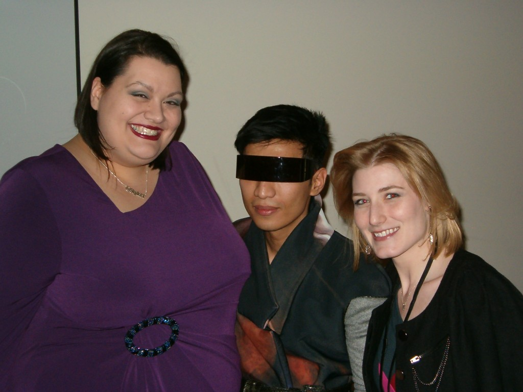 Sarah Conley of StyleItOnline, Bryanboy, and me!
