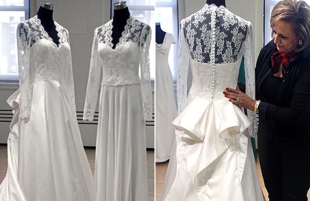 Sarah burton wedding dress fashion pulse daily for Knock off kate middleton wedding dress
