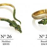 anna dello russo h&m alligator jewelry