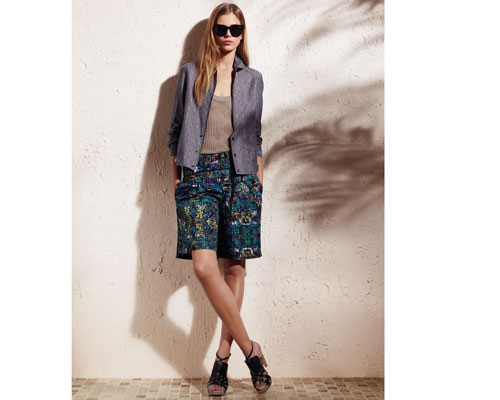 Derek Lam for DesigNation bomber jacket: $70, knit basic tank top: $40, and drawstring shorts: $48