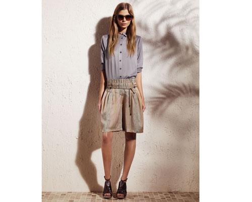 Derek Lam for DesigNation classic button-down shirt: $48 and  drawstring shorts: $48