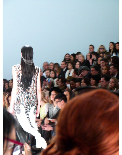 animal print in action on runway