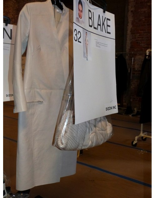 backstage at helmut lang