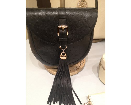 Saddlery Cross body - Ostrich Embossed, $248