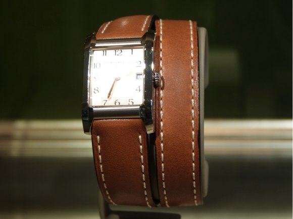 baume & mercier brown leather strap