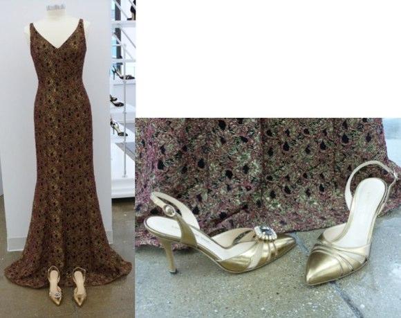 carmen marc valvo shoes and dress