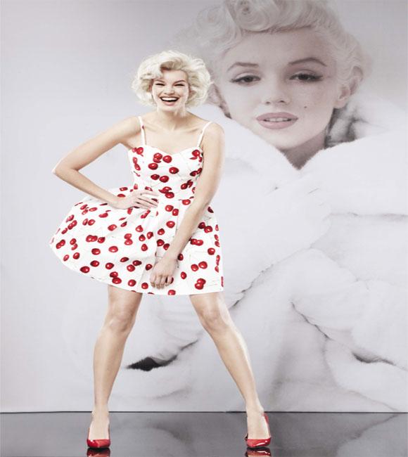 Marilyn Monroe cherry dress