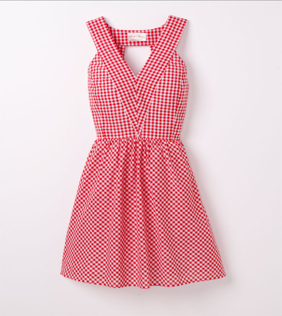 Marilyn Monroe pink gingham halter dress