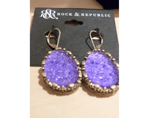 Rock & Republic Faux Rock Craggy Earrings