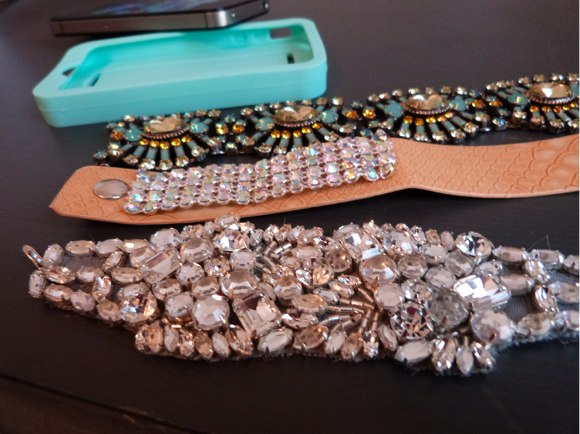 style strap with jewels
