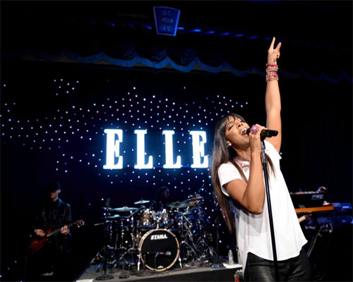Kelly Rowland performing at ELLE's Women in Music Celebration