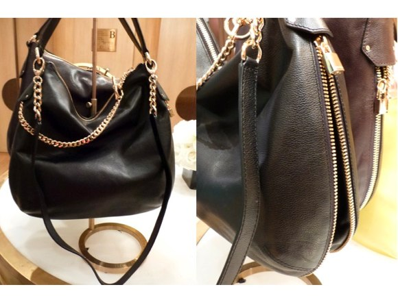 black chain handbag