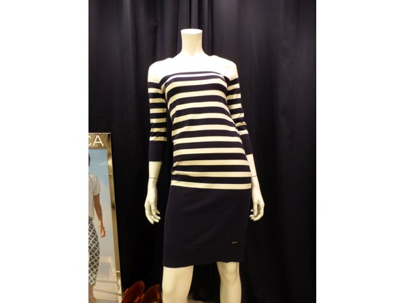 nautica striped dress fall 2013