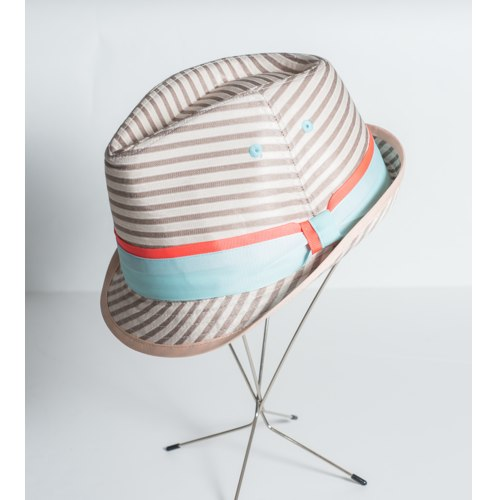 BCBGeneration Striped Fedora