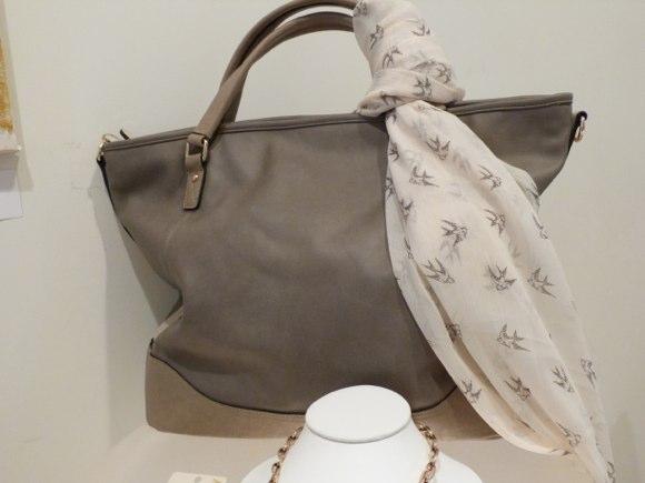 accessorize handbag and scarf