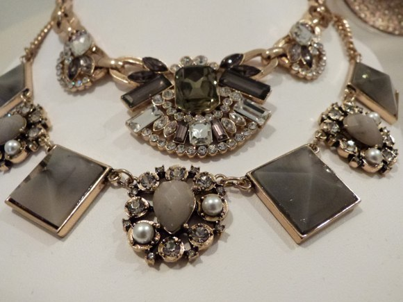 beth chunky chain statement necklace & audrey necklace