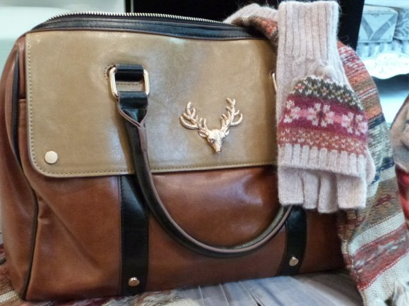 cotswolds stag head bag