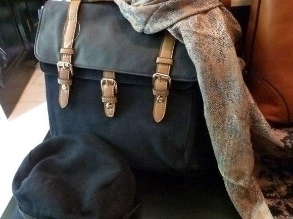 square PU rucksack