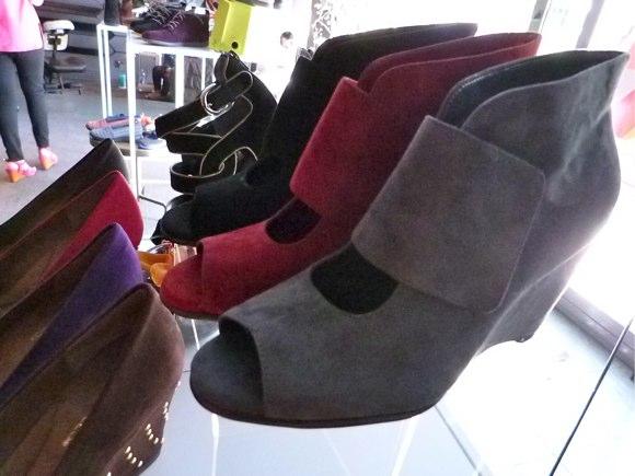 suede wrap shoes