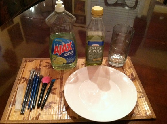 DIY makeup brush cleaning