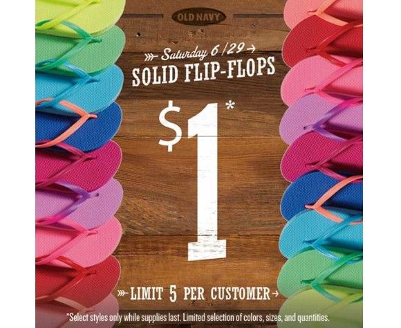 old navy flip flops $1