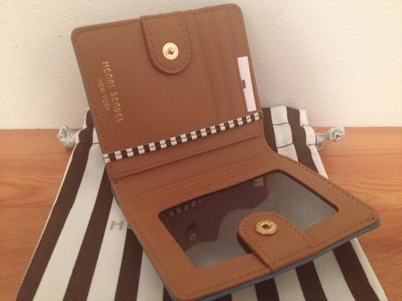 henri bendel inside studded wallet