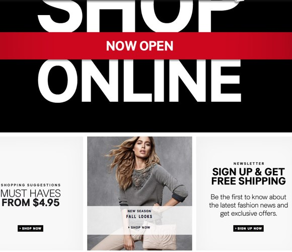 shop H&M online now available