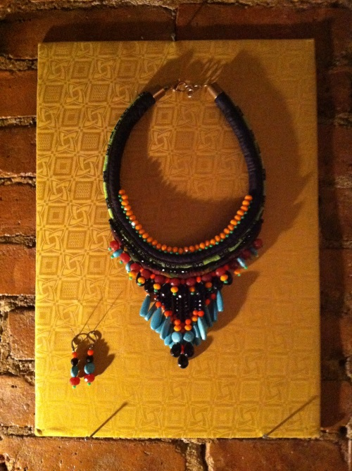 Toubab Paris necklace and earrings