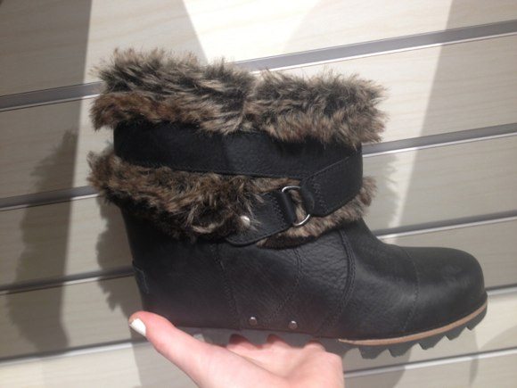 sorel fall 2013 fur bootie