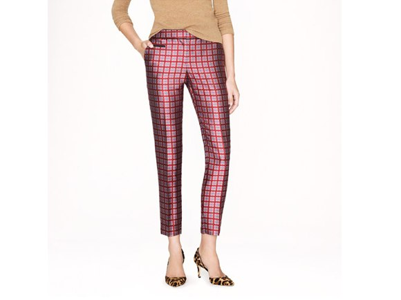 J.Crew Collection café capri in Moroccan windowpane