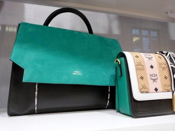 MCM handbag suede exotic skin