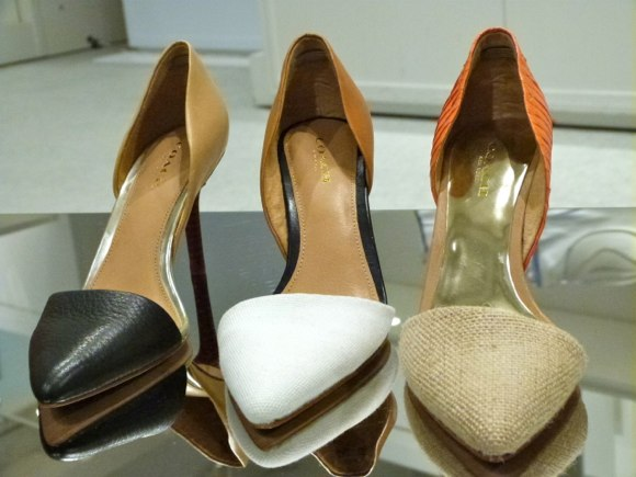 coach heels the front