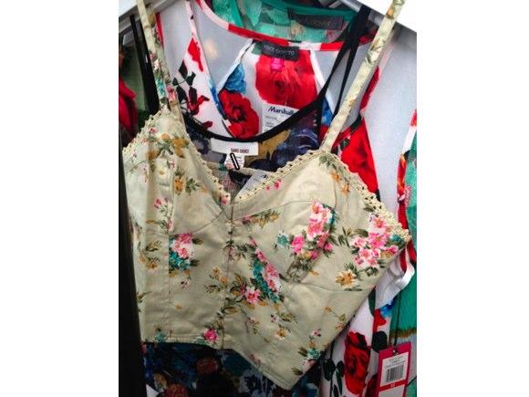 floral bralette tops