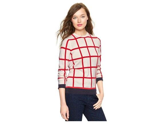 gap windowpane pullover