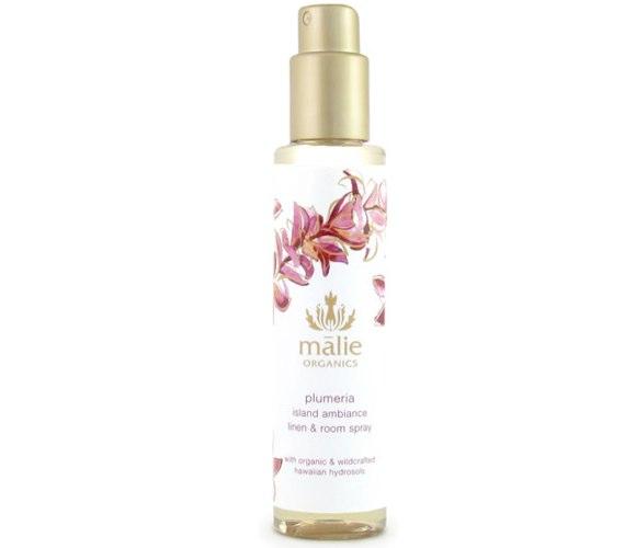 malie organics plumeria island ambiance linen & room spray
