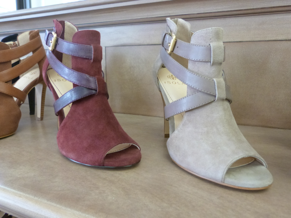 Isola open toe booties spring 2014-1