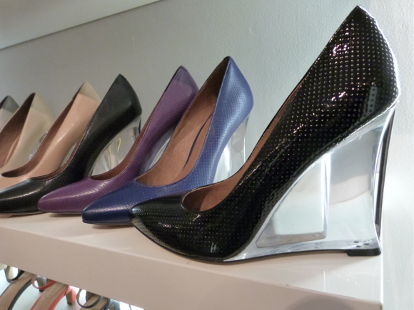 corso como perforated leather lucite heel