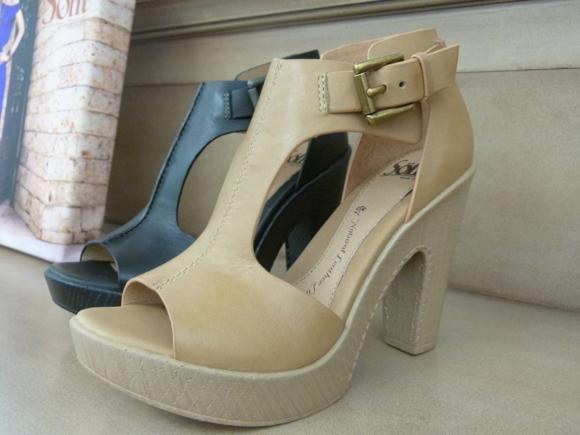 sofft open toe buckle heels spring 2014-1