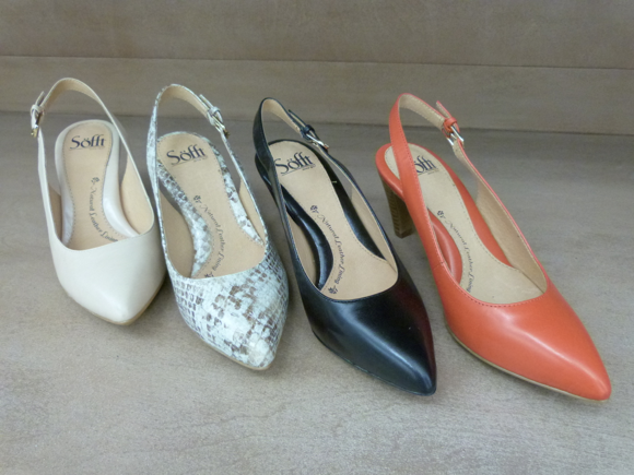 sofft slingback rounded toe pumps