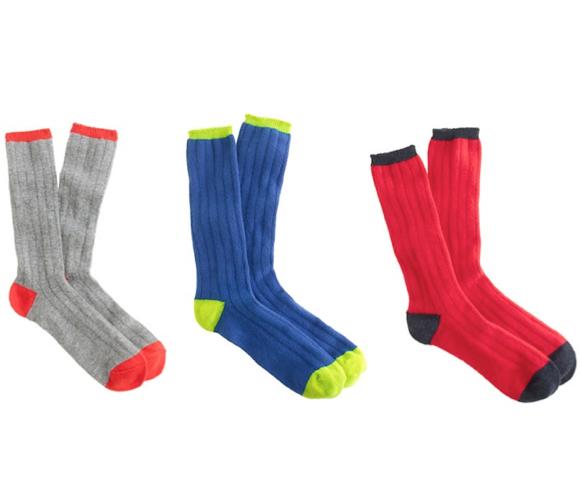 cashmere socks j.crew