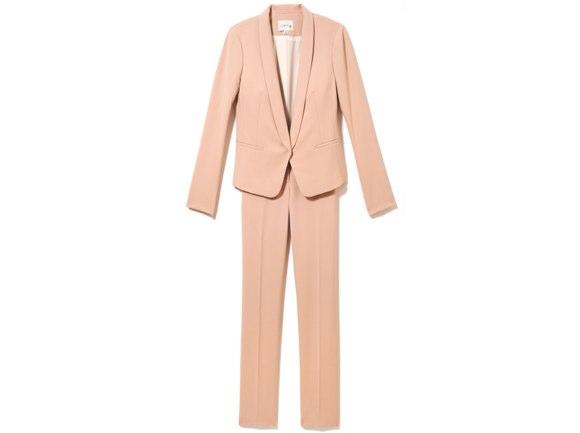 peach blazer LOFT