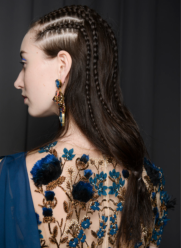 [From Marchesa fall 2014; image courtesy of TONI&GUY]