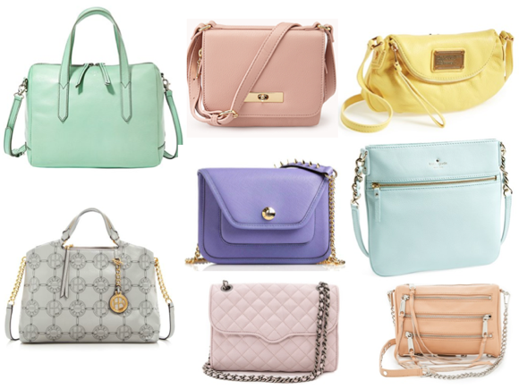 Handbags In Trendy Pastel Colors