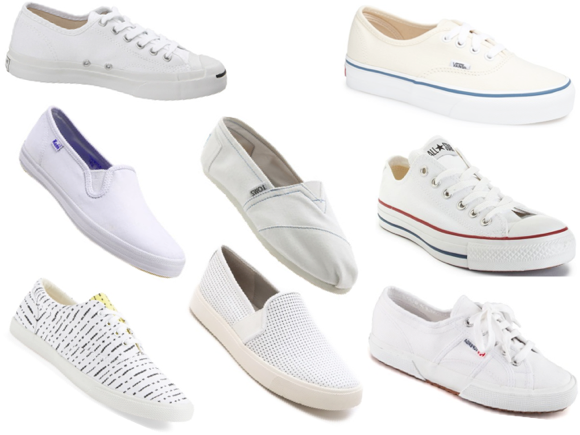 white canvas sneakers trend