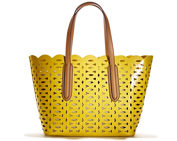 Yellow Perforated Tote TJMAXX