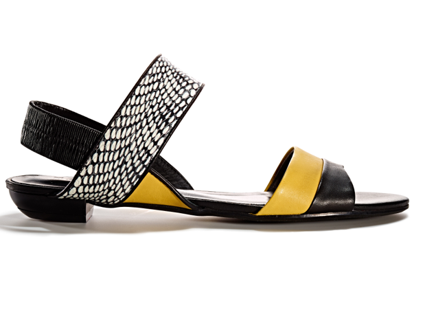 Yellow and Black Sandals TJMAXX