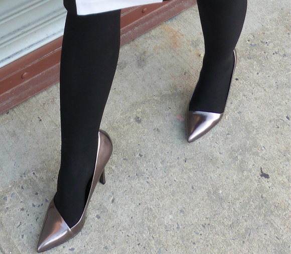 shoedazzle metallic pumps