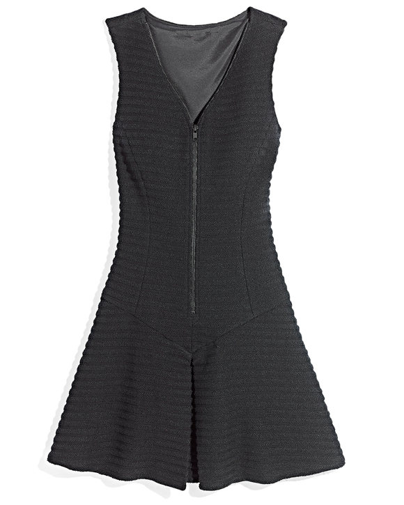 Black Zip Front Dress TJ